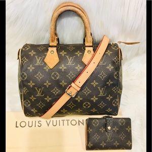 Louis Vuitton Speedy 25 & LV Wallet #4.1zhj